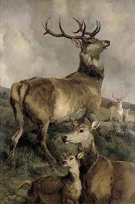 Grazing Elk Painting - The Noble Beast by Sir Edwin Landseer