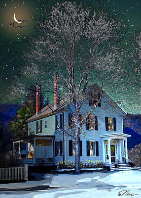 Digital Art - The Noble House by Nancy Griswold
