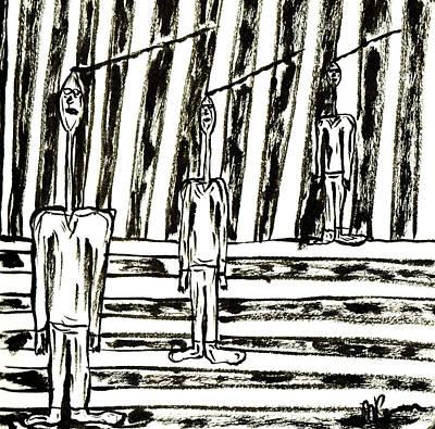 Drawing - The Nod Trio Circa 1956 by Mario Perron