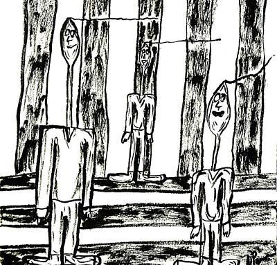 Drawing - The Nod Trio Circa 1959 by Mario Perron