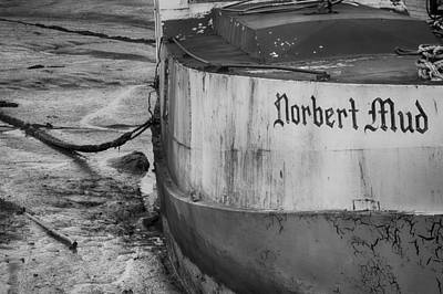Photograph - The Norbert In The Mud In Black And White by Leah Palmer