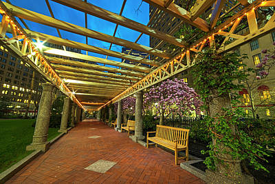 Photograph - The Norman B Leventhal Park On A Spring Night Boston Ma Trellis by Toby McGuire