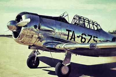Photograph - The North American Aviation T-6 Texan Plane Color Edition by Tony Grider