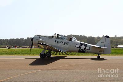The North American T6 Texan Military Aircraft . 7d15782 Art Print
