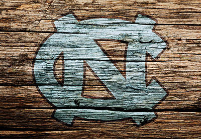 The Hills Mixed Media - The North Carolina Tarheels by Brian Reaves
