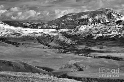 Photograph - The North Entrance Of Yellowstone Black And White by Adam Jewell