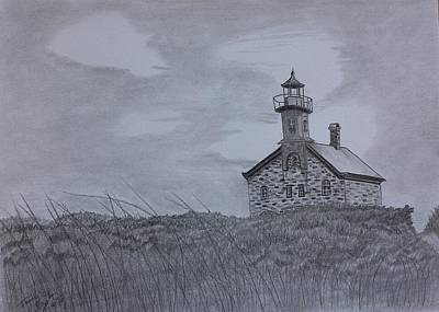 Lighthouse Drawing - The North  Light  by Tony Clark