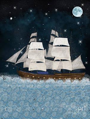 Tall Ship Painting - The North Star by Bleu Bri