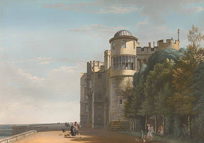 Antique Look Painting - The North Terrace Looking East - Windsor Castle by Mountain Dreams
