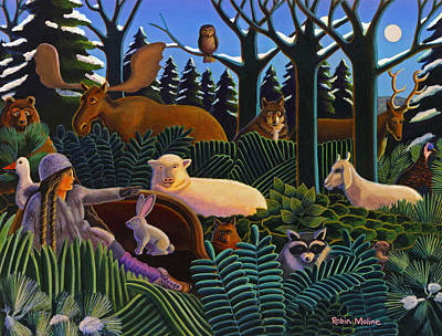 Painting - The North Woods Dream by Robin Moline