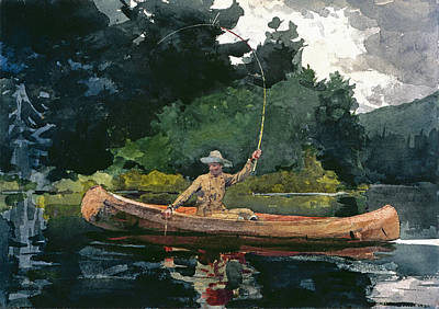 Winslow Homer Drawing - The North Woods by Winslow Homer