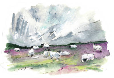 Painting - The North Yorkshire Moor 05 by Miki De Goodaboom