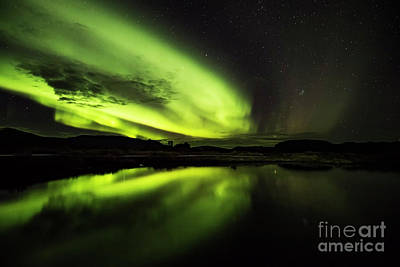 Photograph - The Northern Lights Thingvellir by Gunnar Orn Arnason