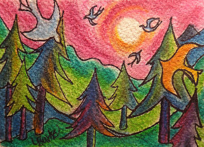 Northwoods Painting - The Northwoods by Lesli Burke