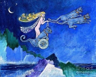Goddess Mythology Painting - The Nortic Goddess Fraya by Doris Blessington