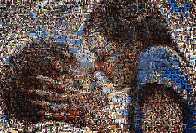Movie Scene Digital Art - The Notebook Mosaic by Paul Van Scott