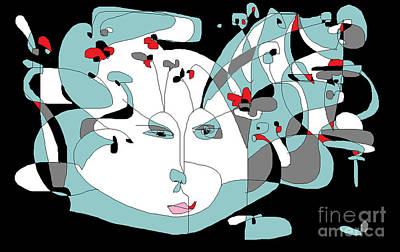 Digital Art - The Novelist by Nancy Kane Chapman