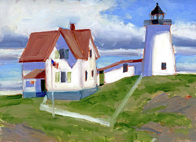 Painting - The Nubble by Mary Byrom