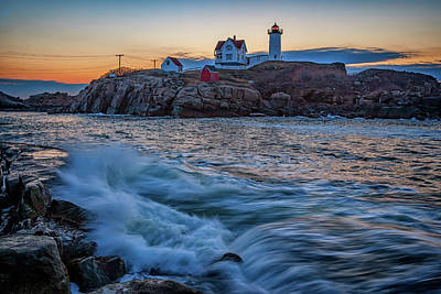 The Nubble Art Print by Rick Berk