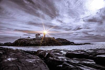 Photograph - The Nubble by Sherman Perry