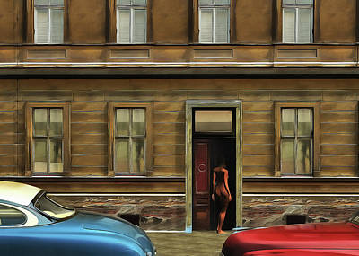 Painting - The Nude In The Door by Jan Keteleer