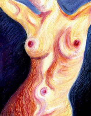 The Nude Number Three Art Print by Tak Salmastyan