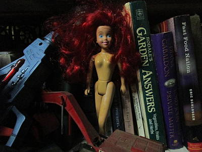 Toys Photograph - The Nude Red Headed Doll by David Lovins