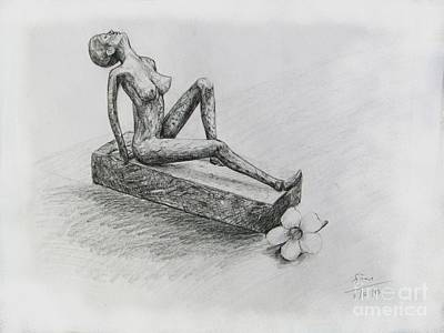Still Life Drawings - The Nude  Sculpture by Sukalya Chearanantana