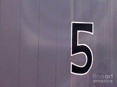 Photograph - The Number 5 by Elizabeth Hoskinson