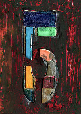 Mixed Media - The Number 5 by Robert Cattan