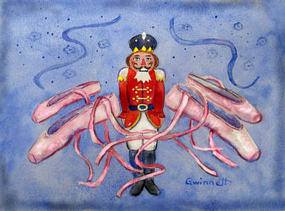 Painting - The Nutcracker Ballet by Kathleen  Gwinnett