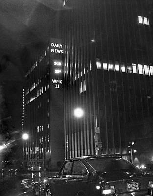 The Ny Daily News Building Art Print by Underwood Archives