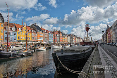 Photograph - The Nyhavn Canal In Copenhagen by Patricia Hofmeester