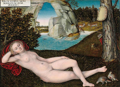 Painting - The Nymph Of The Spring by Lucas Cranach the Younger