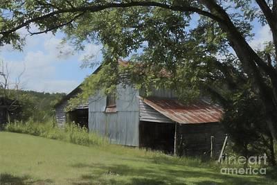 Rusted Tin Roof Photograph - The Oak Branch Barn by Benanne Stiens