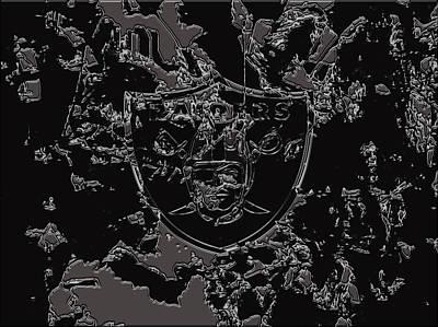 Patriot Mixed Media - The Oakland Raiders 1b                                    by Brian Reaves