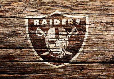 The Oakland Raiders 1f Art Print by Brian Reaves