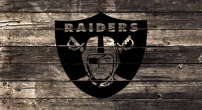 The Oakland Raiders 2w Art Print by Brian Reaves