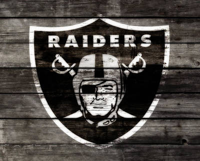 Reggie Lewis Mixed Media - The Oakland Raiders 3a by Brian Reaves