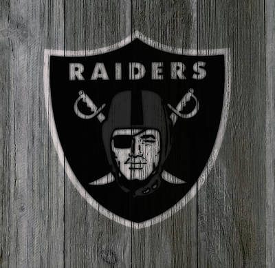 Reggie Lewis Mixed Media - The Oakland Raiders 5b by Brian Reaves
