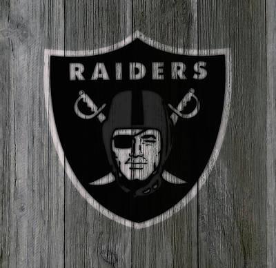 The Oakland Raiders 5b Art Print by Brian Reaves