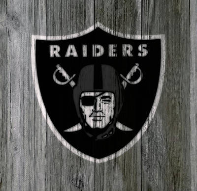 Reggie Lewis Mixed Media - The Oakland Raiders 5c by Brian Reaves