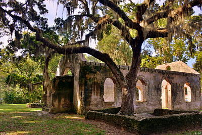 The Oaks At Chapel Of Ease St. Helena Island Beaufort Sc Art Print by Lisa Wooten