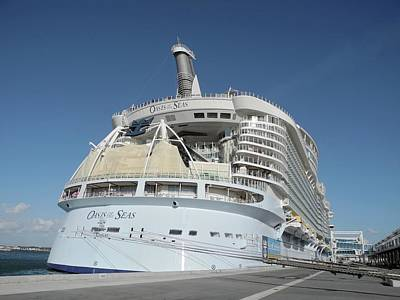 Art Print featuring the photograph The Oasis Of The Seas At Port Canaveral by Bradford Martin