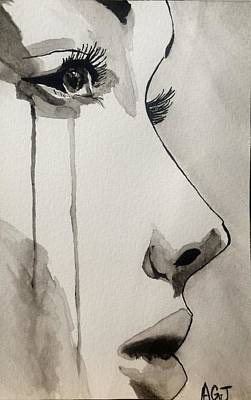 Crying Drawing - The Observer by Ashton Jackson
