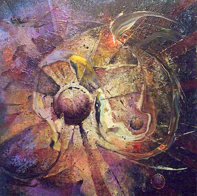 The Obstinate Particle Art Print by Fred Wellner