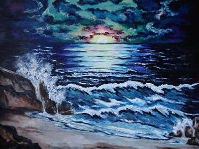 Painting - The Ocean Sings The Sky Listens by Cheryl Pettigrew