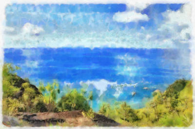 Popstar And Musician Paintings Royalty Free Images - The ocean view Royalty-Free Image by Ashish Agarwal