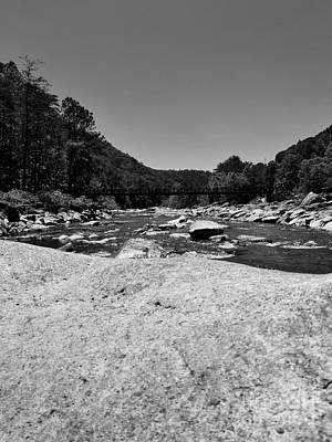 Photograph - The Ocoee River Bw by Rachel Hannah