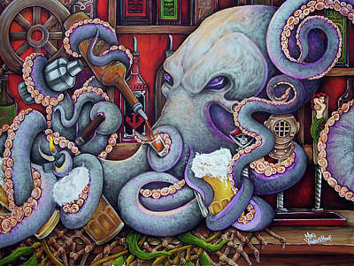 Painting - The Octobar On October 8th by Michael Vanderhoof